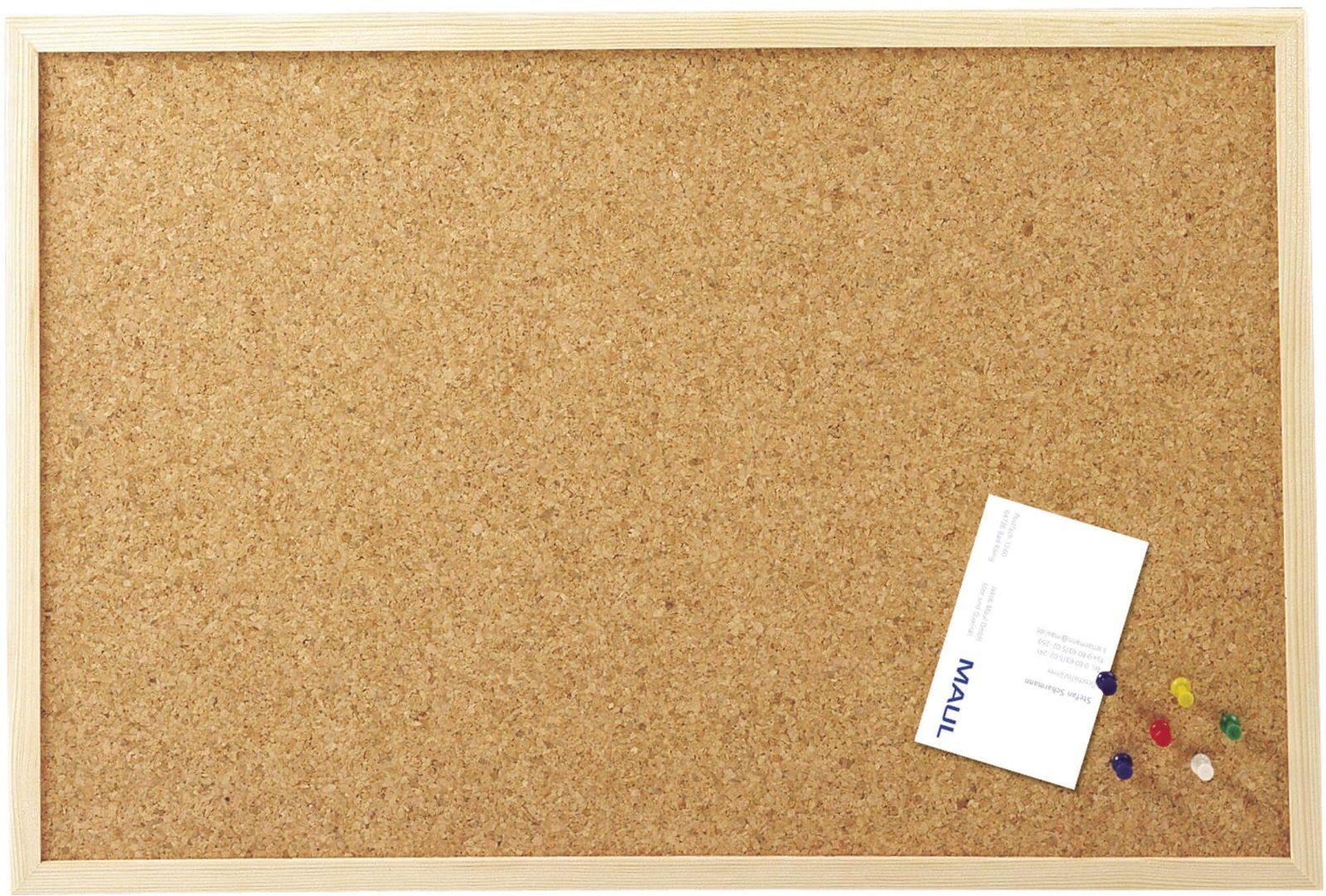 Pinnboard mit Holzrahmen, 60x100 cm, holz