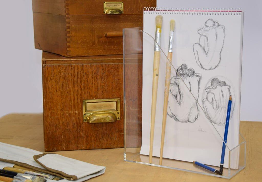 Acryl-Stehsammler, DIN A4, glasklar