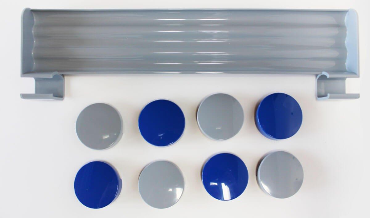 Einzelteil-Set grau für WB, farbig sortiert
