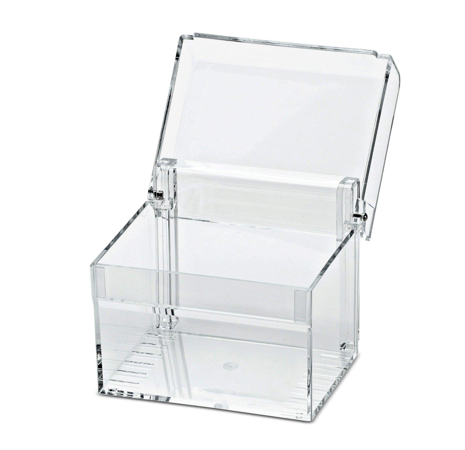 Acryl-Karteikasten, DIN A7, glasklar