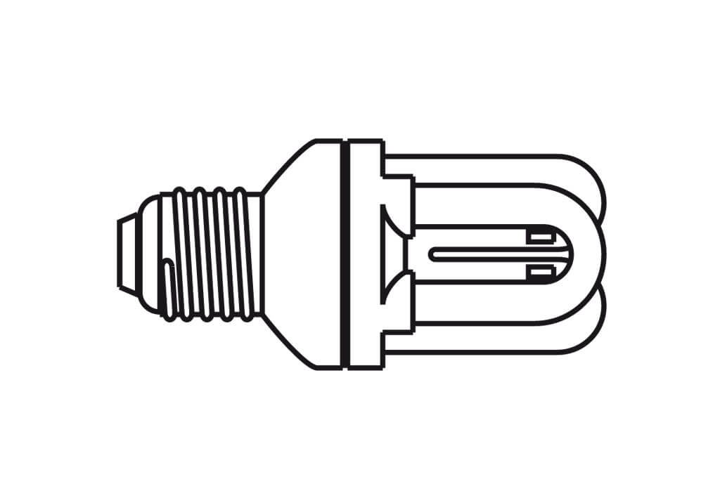 Energiespar-Leuchtmittel, Sockel E27, 6500 K, glasklar