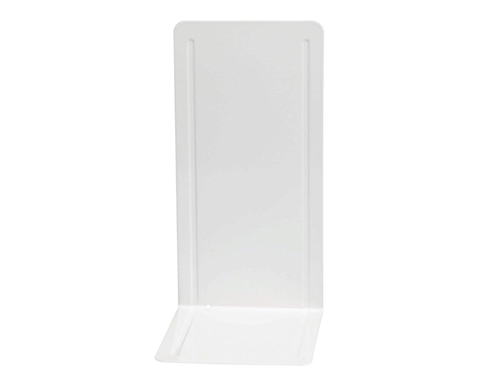 Registraturstützen schmal, 14 x 12 x 24 cm, weiß