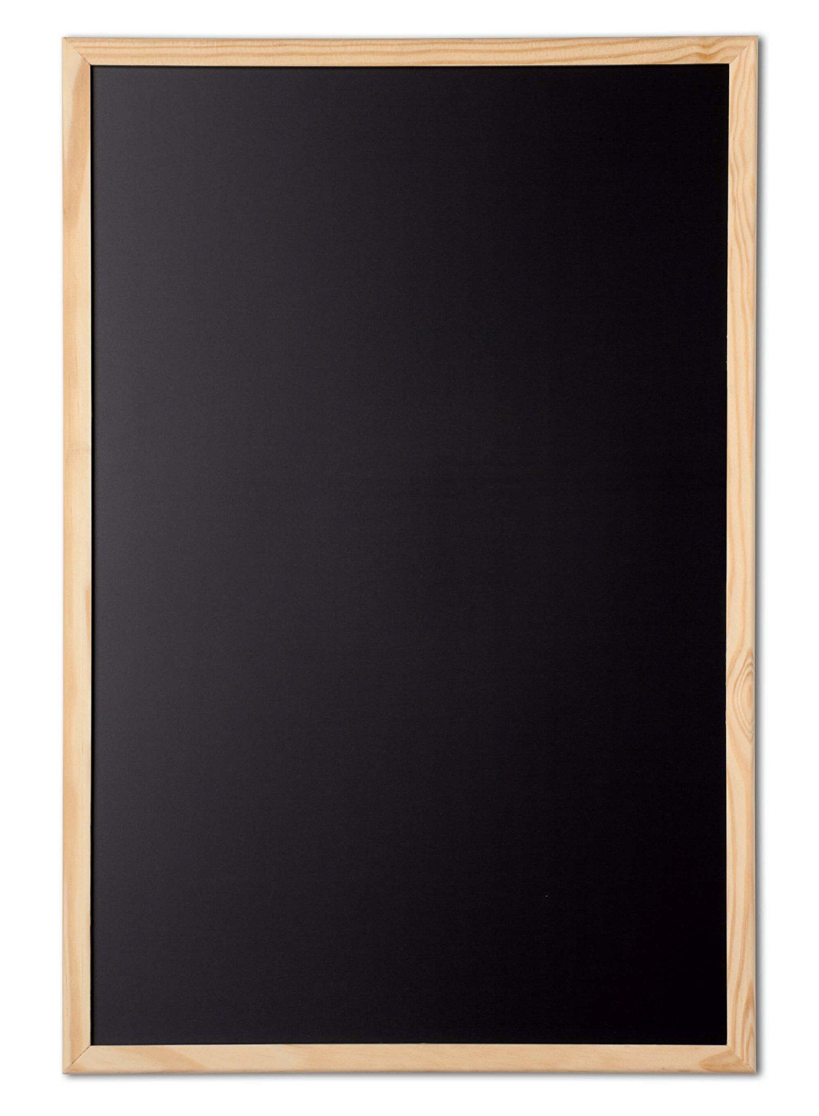 Kreidetafel mit Holzrahmen 60x90 cm, holz