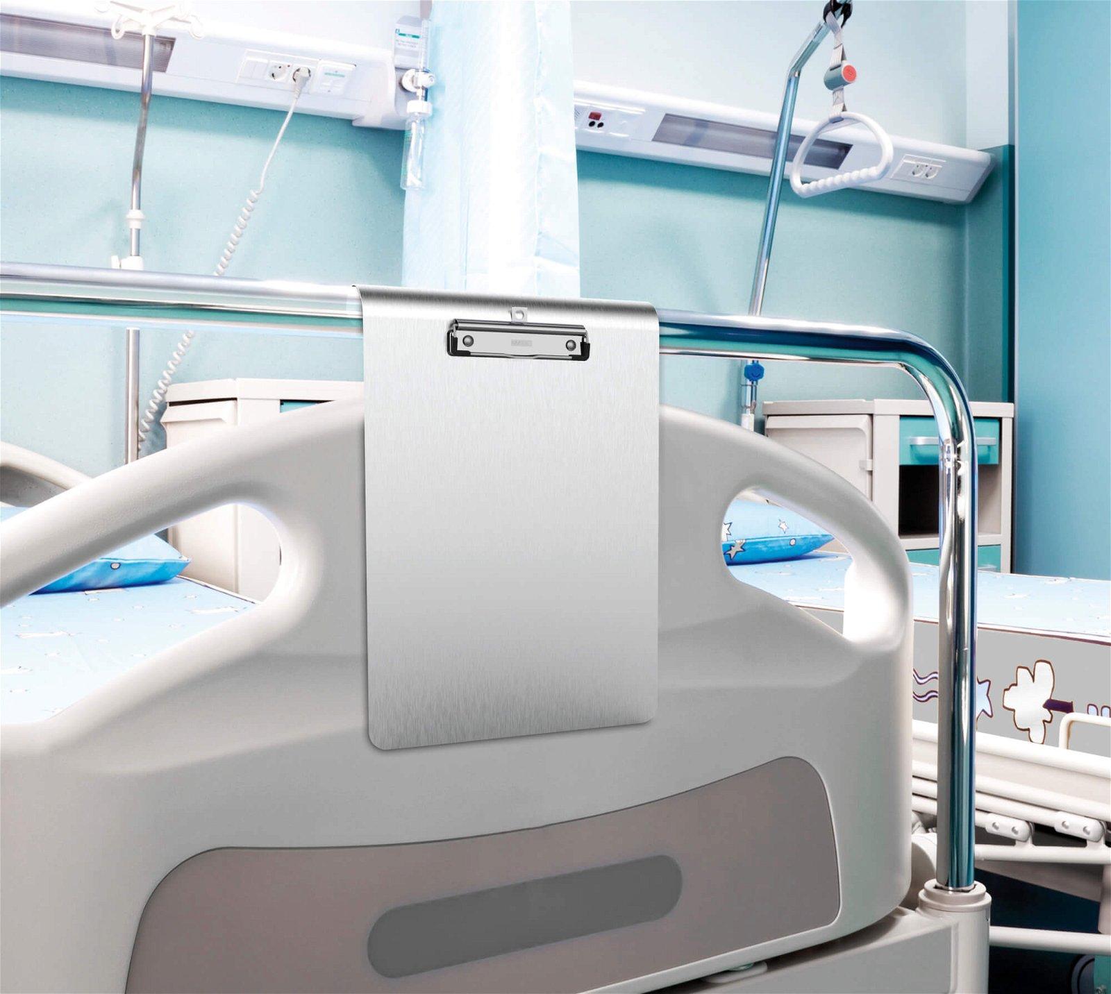 A4 Schreibplatte MAULmedic Klemmer Edelstahl, hoch
