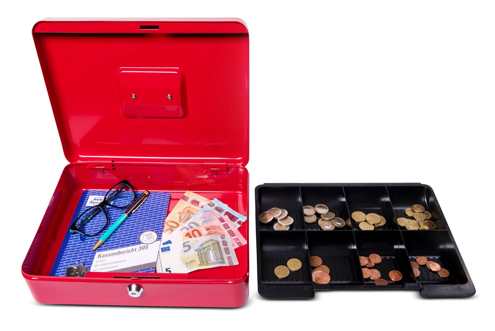 Geldkassette 4, 30 x 24,5 x 9 cm, rot