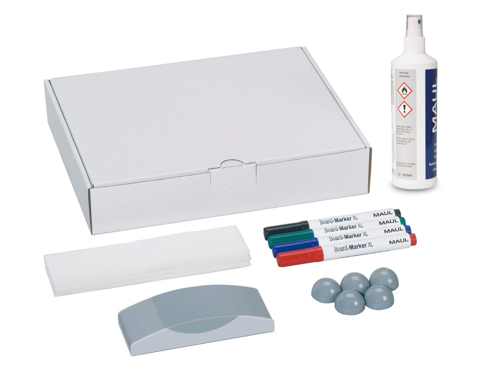 Whiteboard Zubehör-Set, Karton, farbig sortiert