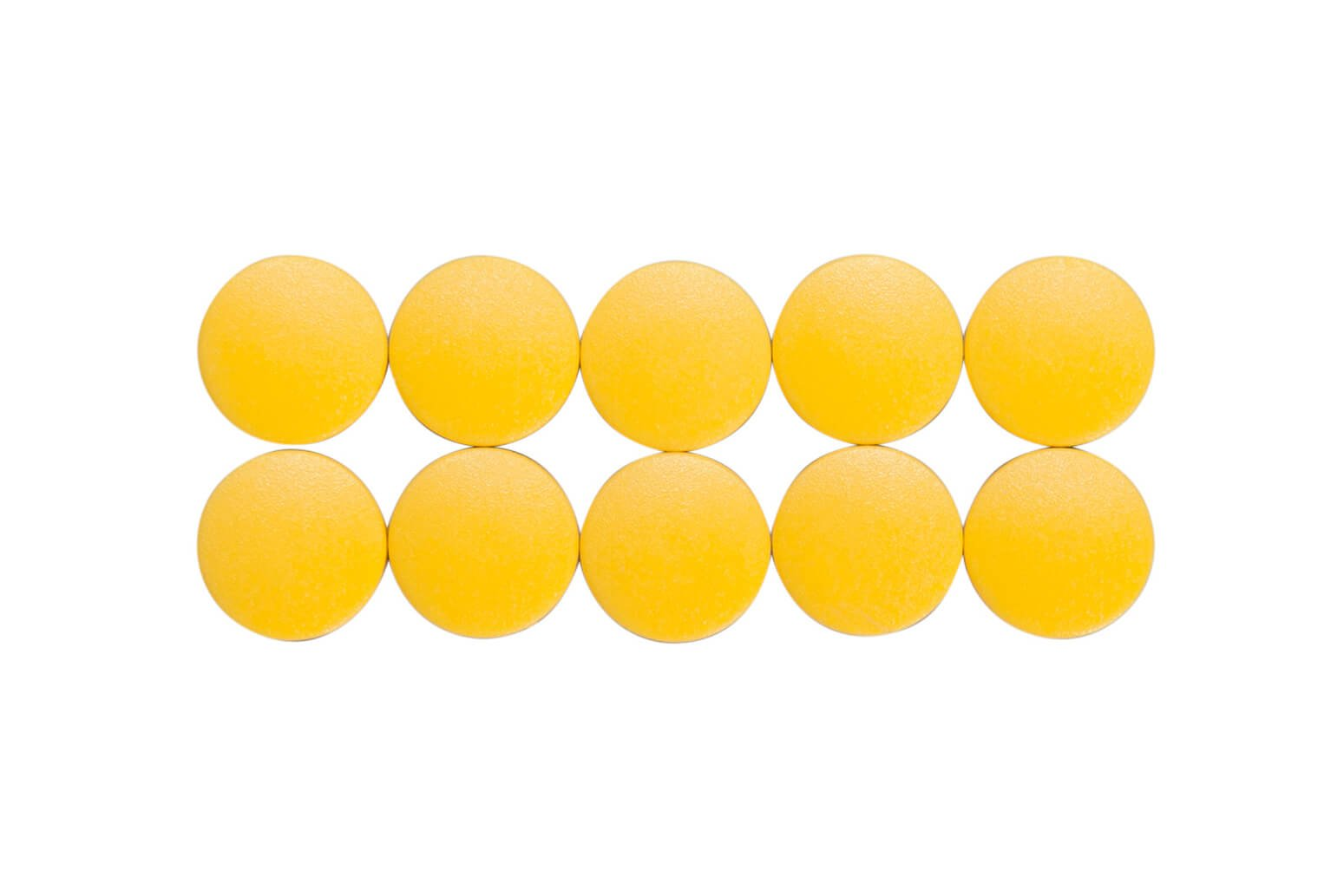 Magnet MAULsolid Ø 15 mm, 0,15 kg Haftkraft, 10 St/Ktn., gelb