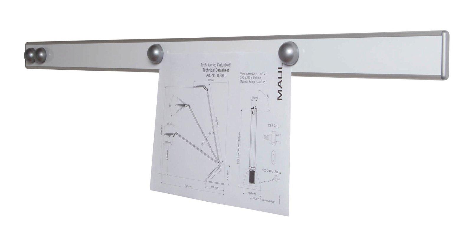 Infoschiene Design MAULpro, Länge 100 cm, silber