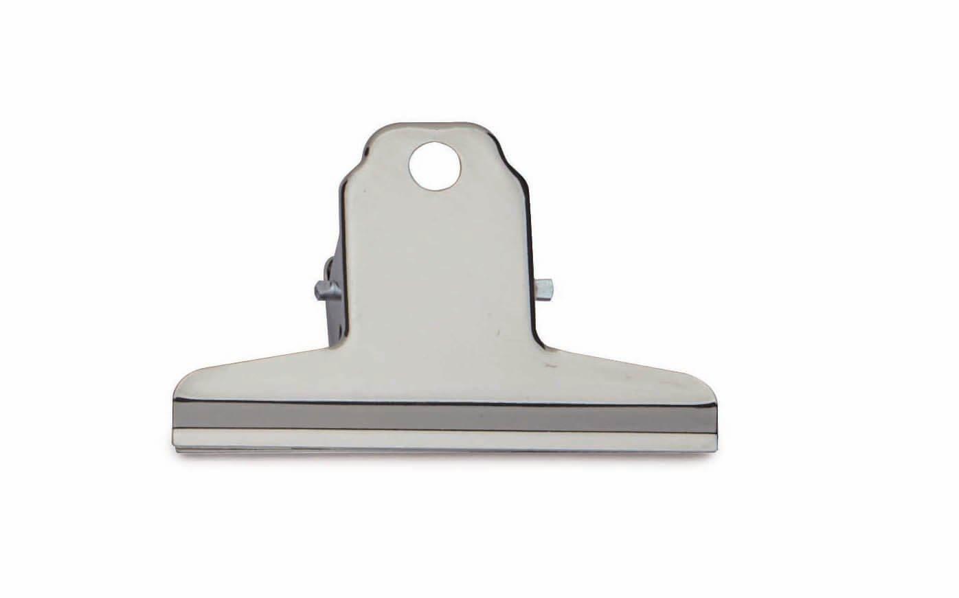 Brief-Klemmer, Breite 75 mm 10 St./KT, hellsilber