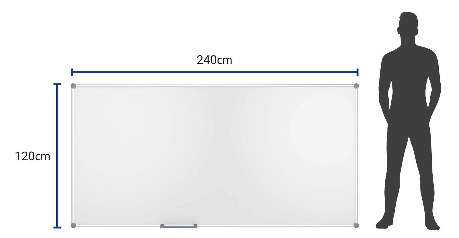 Whiteboard 2000 MAULpro, 120x240 cm, grau