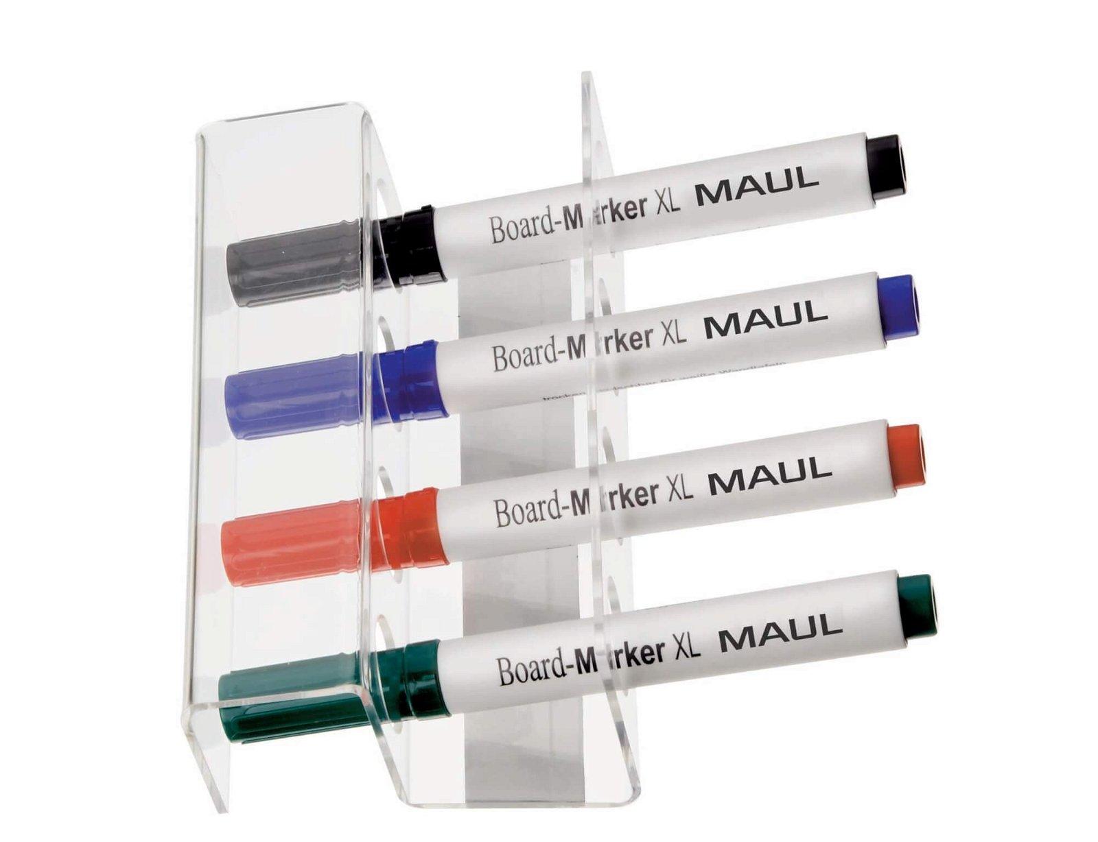 Stiftehalter Acryl für 4 Stifte, magnetisch, glasklar