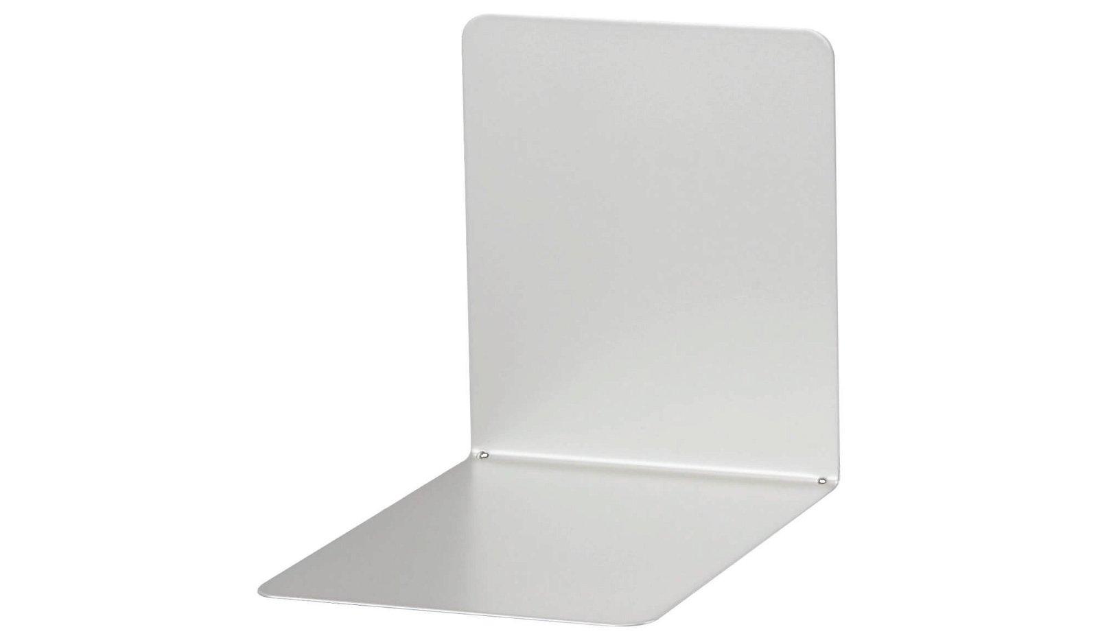 Buchstützen aus Metall, breit, 14 x 12 x 14 cm magnethaftend, silber