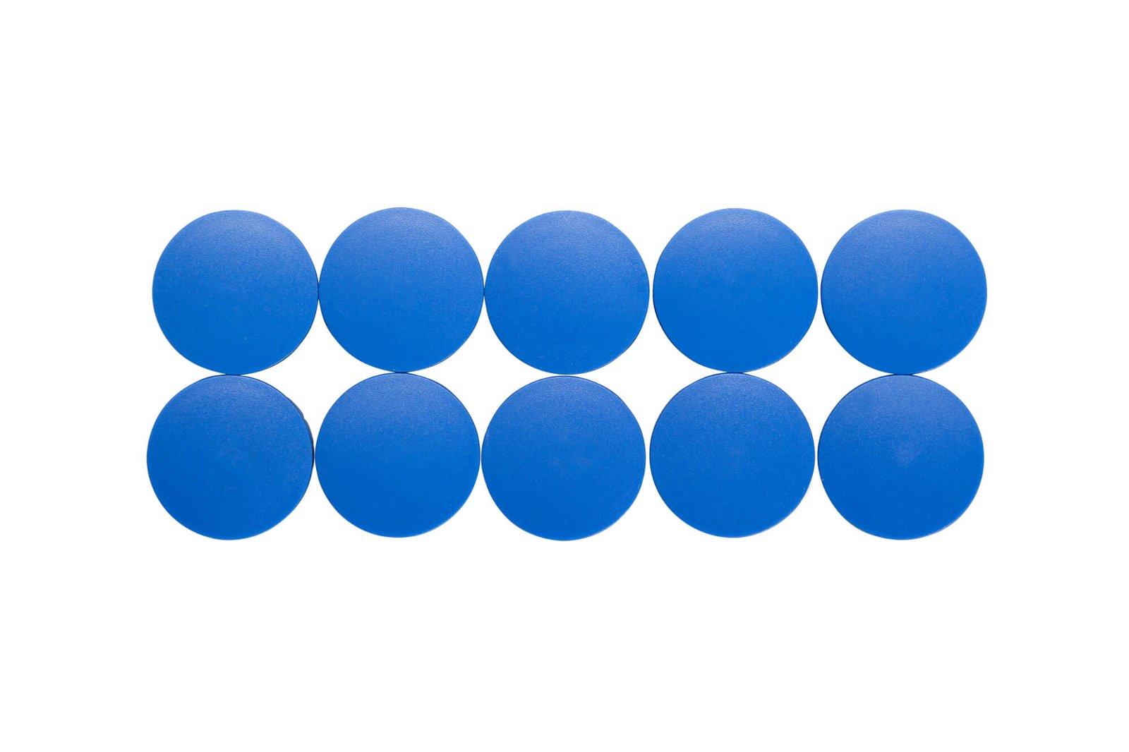 Magnet MAULsolid Ø 38 mm, 2,5 kg Haftkraft, 10 St./Ktn., blau