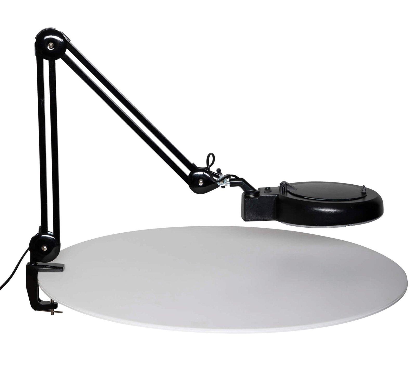 Energiespar-Lupenleuchte MAULviso, mit Klemmfuß, schwarz