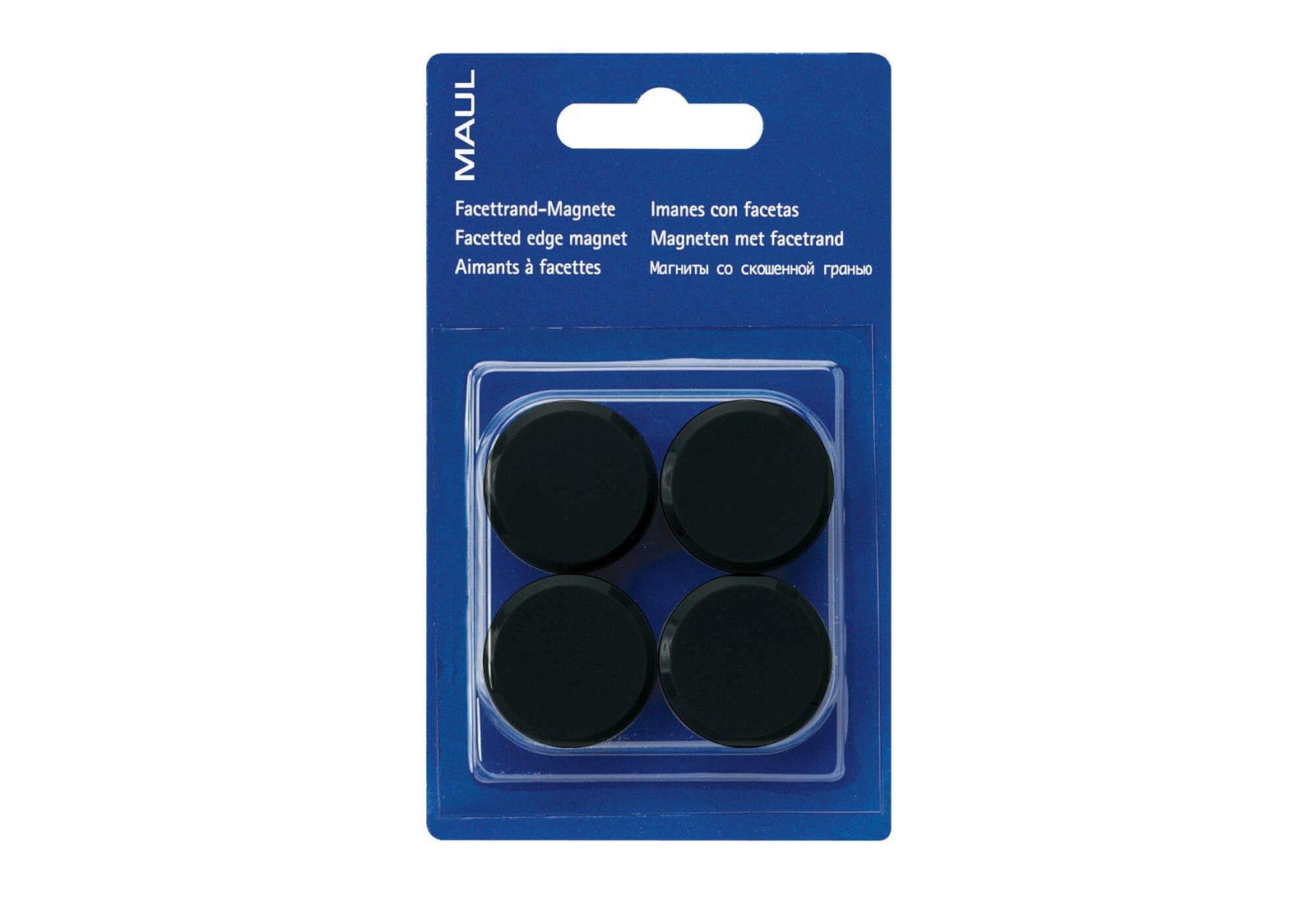 Facetterand-Magnet MAULpro SB Ø 30 mm, 0,6 kg, 4 St./Set, schwarz