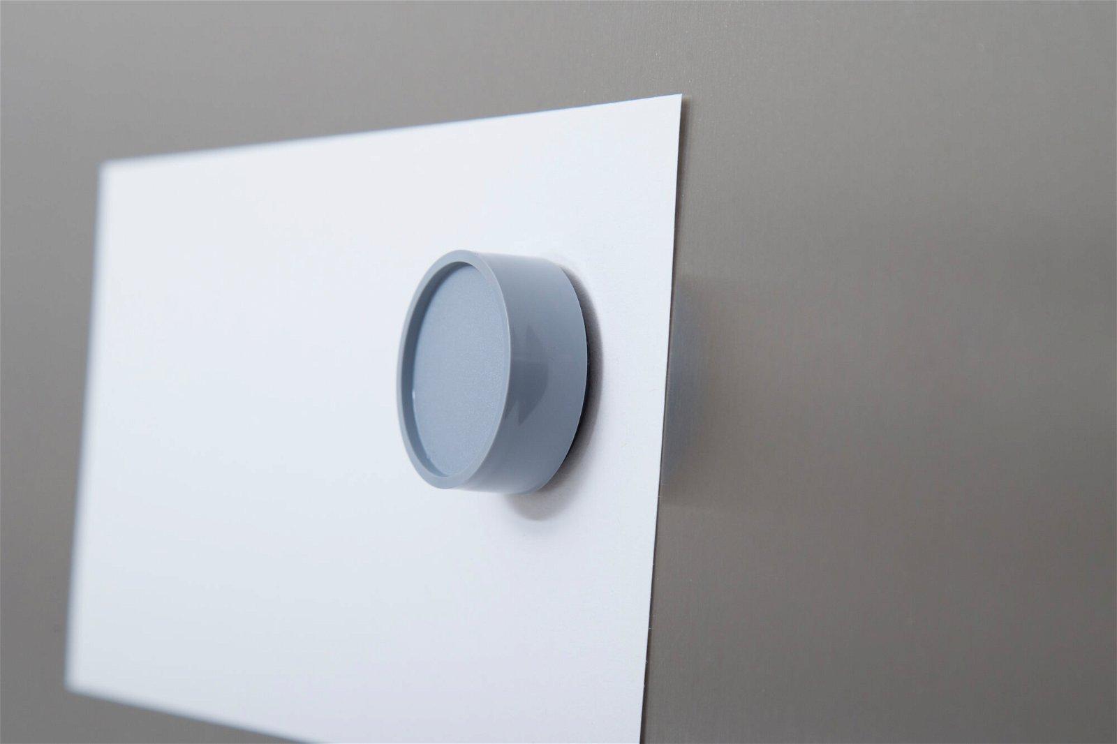 Rund-Magnet, PE Ø 30 mm, 0,6 kg Haftkraft, 10 St./Set, grau