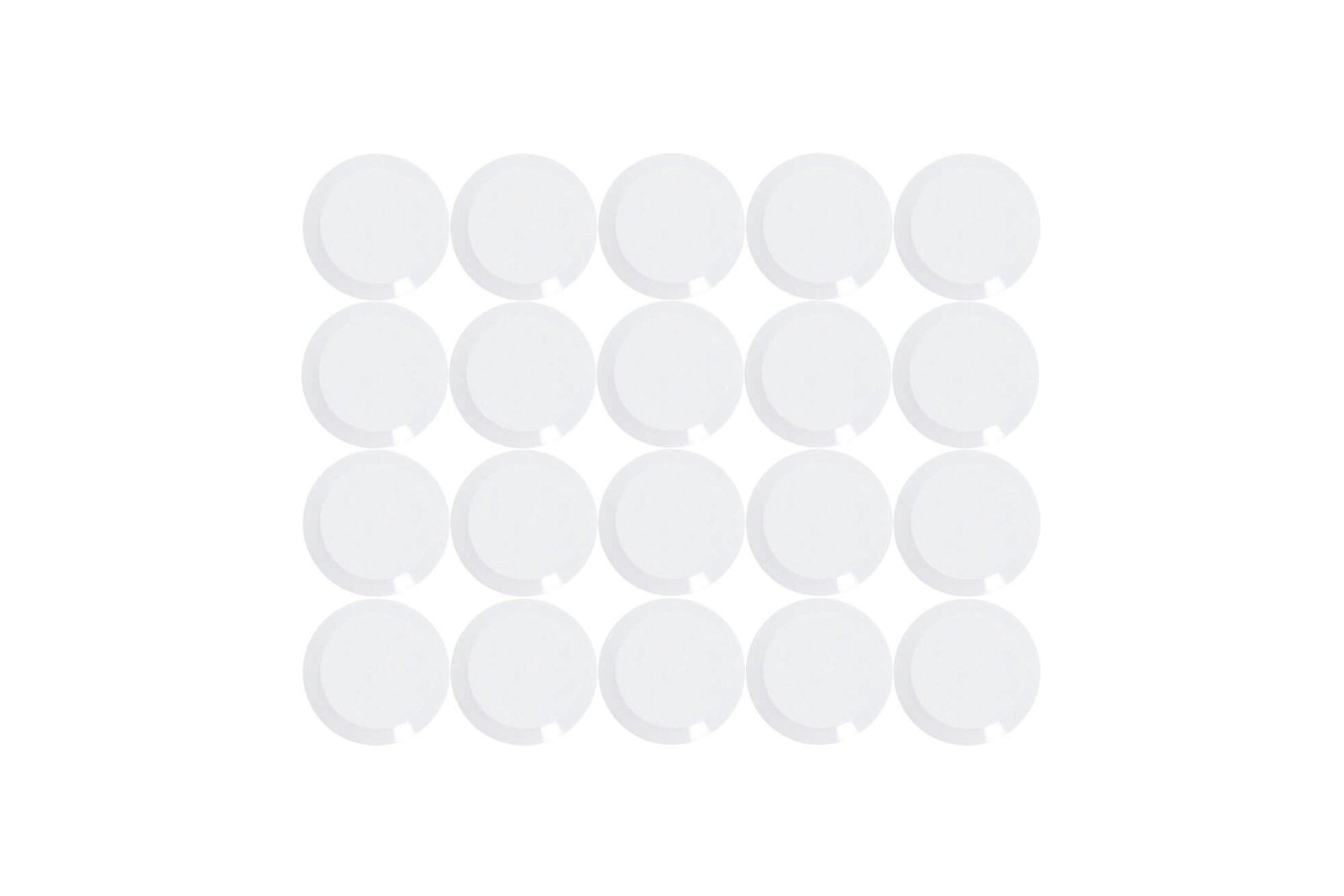 Facetterand-Magnet MAULpro Ø 15 mm, 0,17 kg, 20 St./Set, weiß