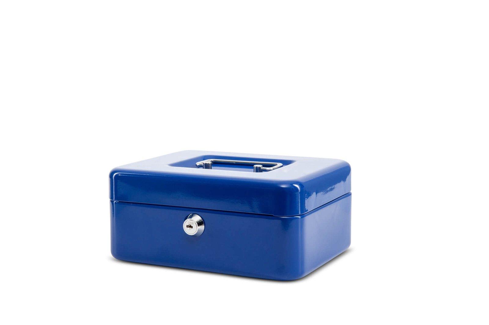 Geldkassette 2, 20 x 17 x 9 cm, blau