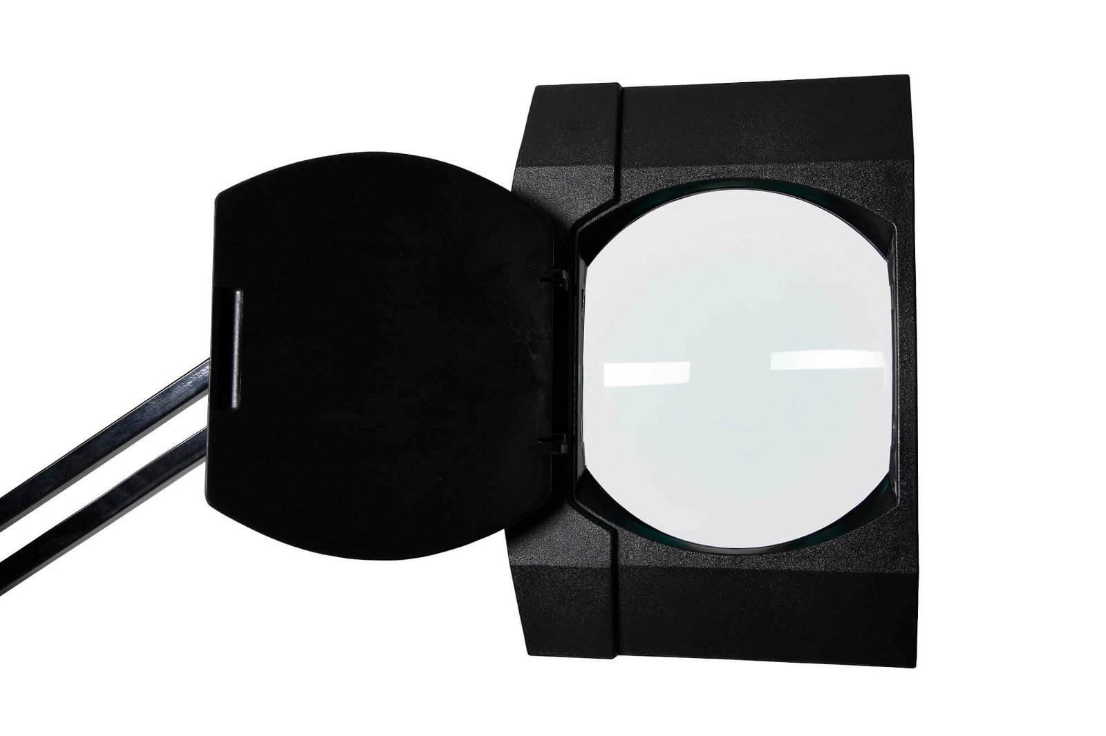 LED-Lupenleuchte MAULvitrum, mit Klemmfuß, schwarz