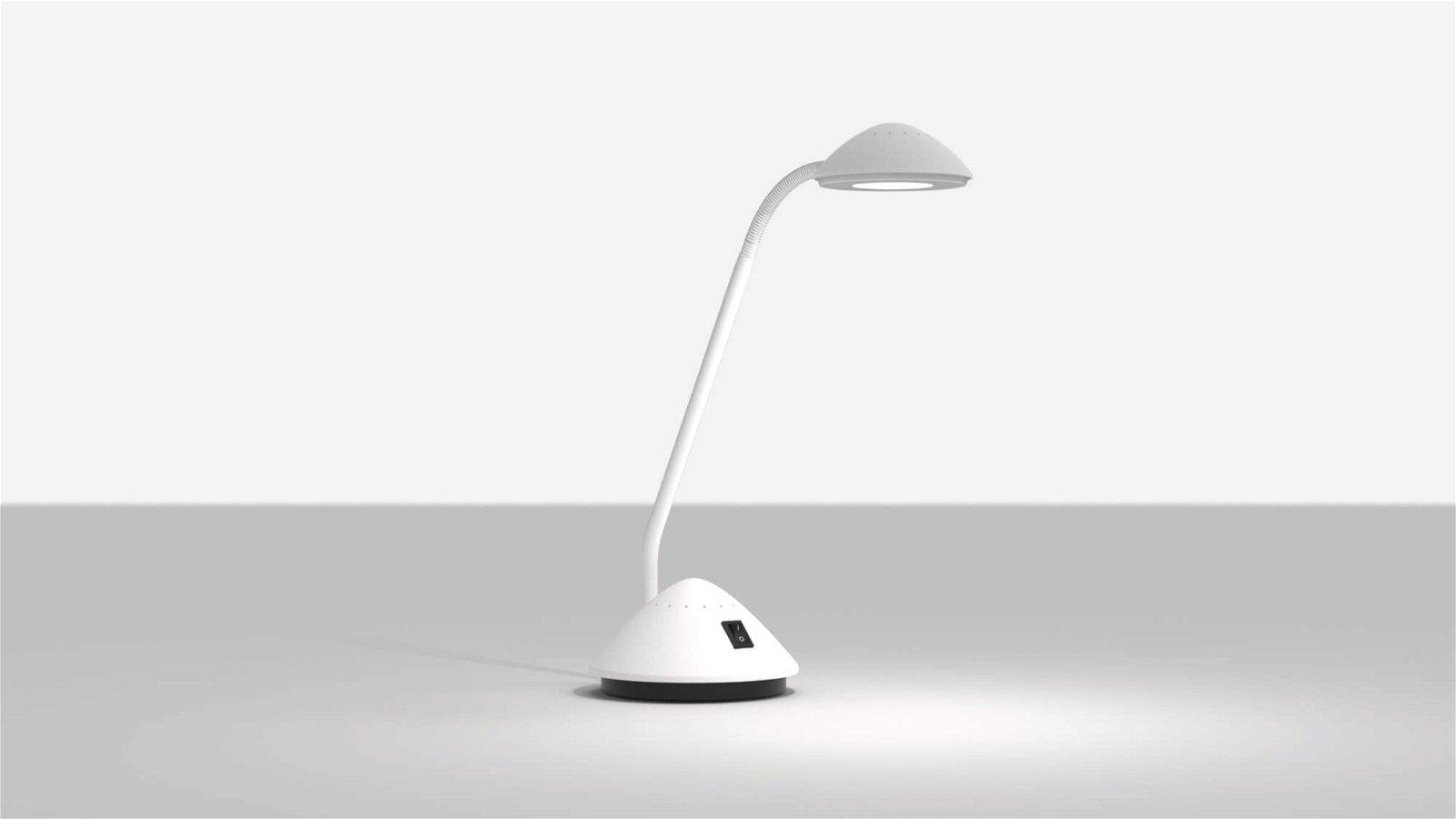 LED-Tischleuchte MAULarc, weiß