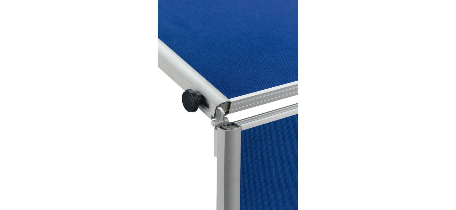 Moderationstafel MAULpro klappb. Textil blau, 150x120cm, grau