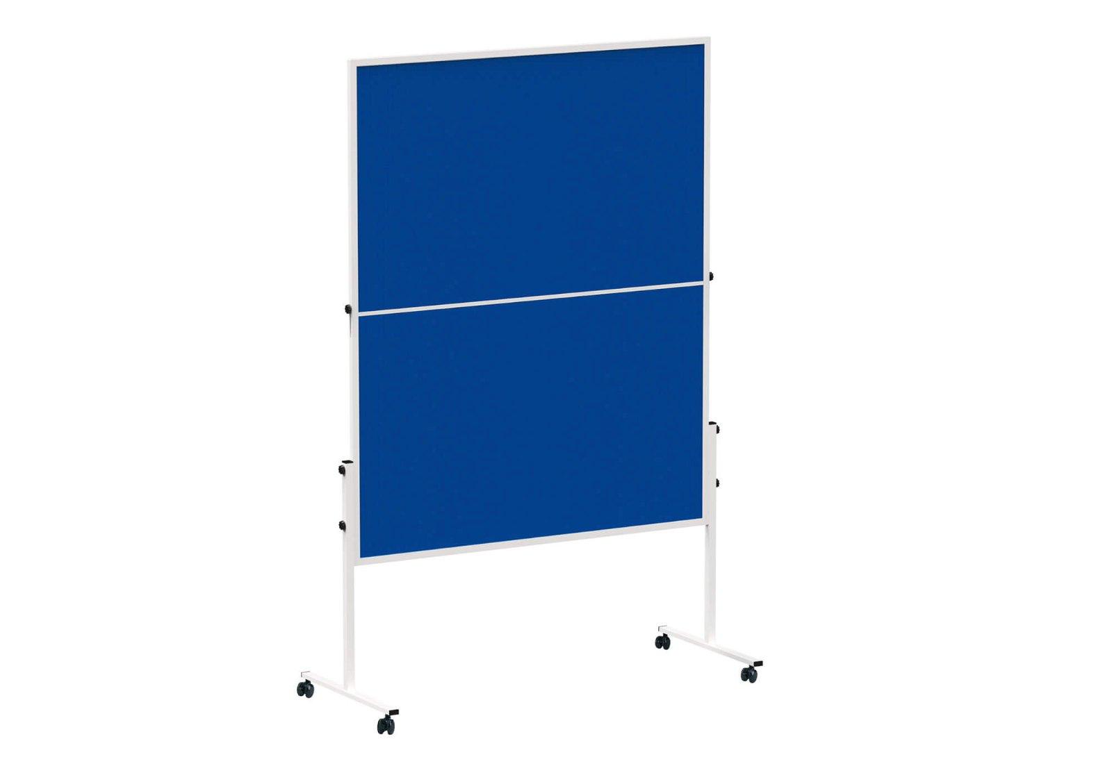 Moderationstafel MAULsolid klappb. Filz blau, 150x120cm, grau
