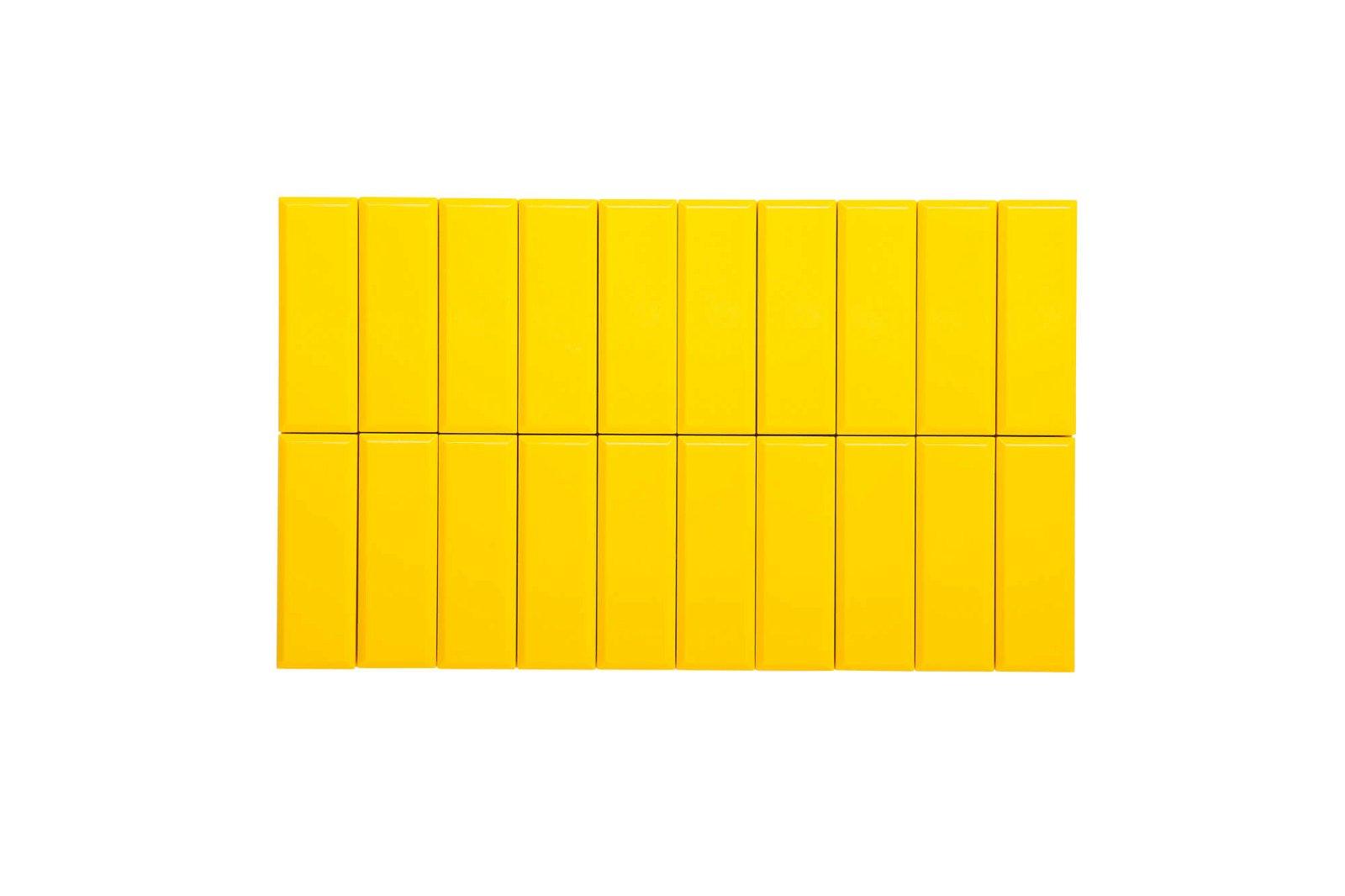 Facetterand-Magnet MAULpro 53 x 18 mm, 1 kg, 20 St./Set, gelb