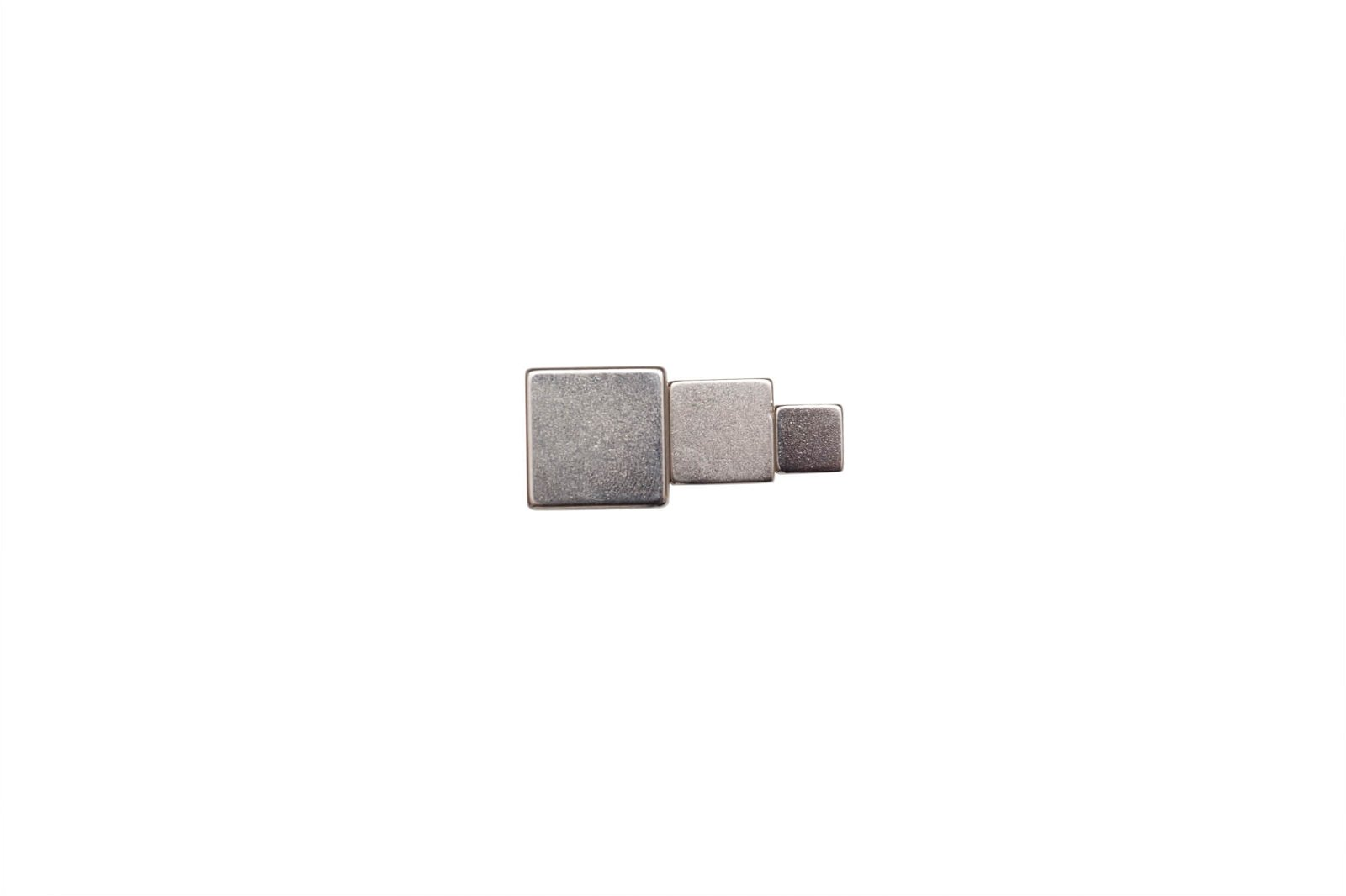 Neodym-Würfelmagnet, 20x20x20 mm, 20 kg Haftkraft, hellsilber