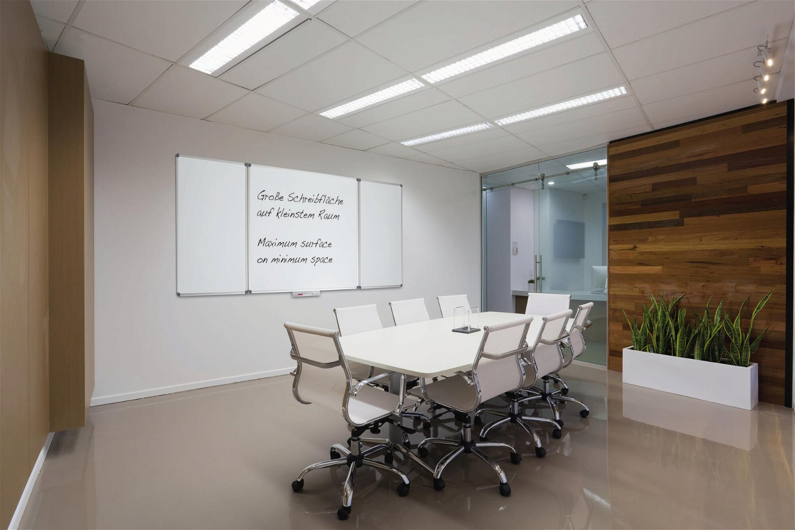 Whiteboard Klapptafel MAULstandard, 100x150 cm, grau