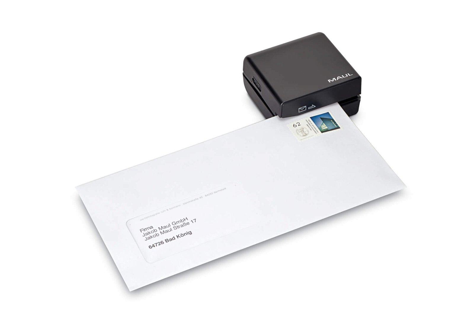 Elektrischer Brieföffner, schwarz