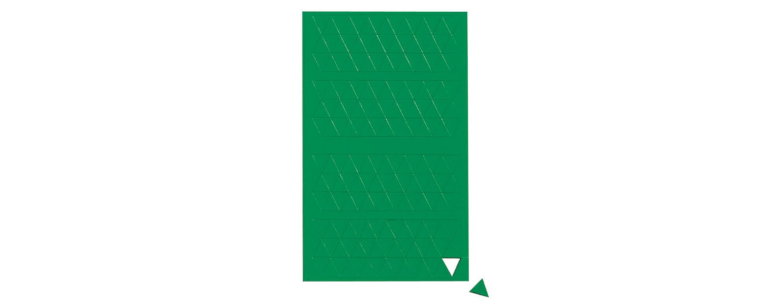 Magnetsymbole Dreieck,  180 St./Btl., grün