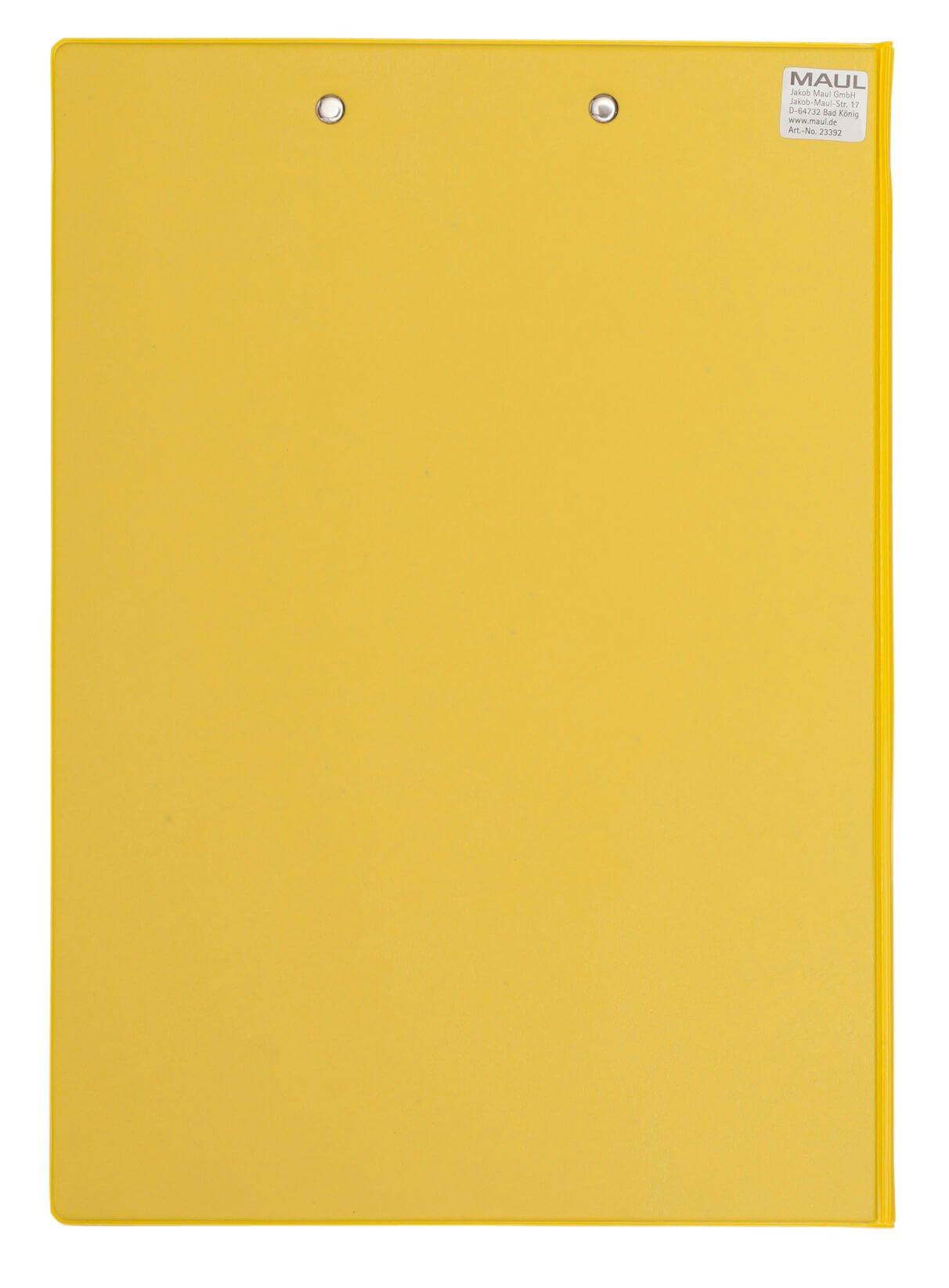 A4 Schreibmappe mit Folien- überzug, gelb