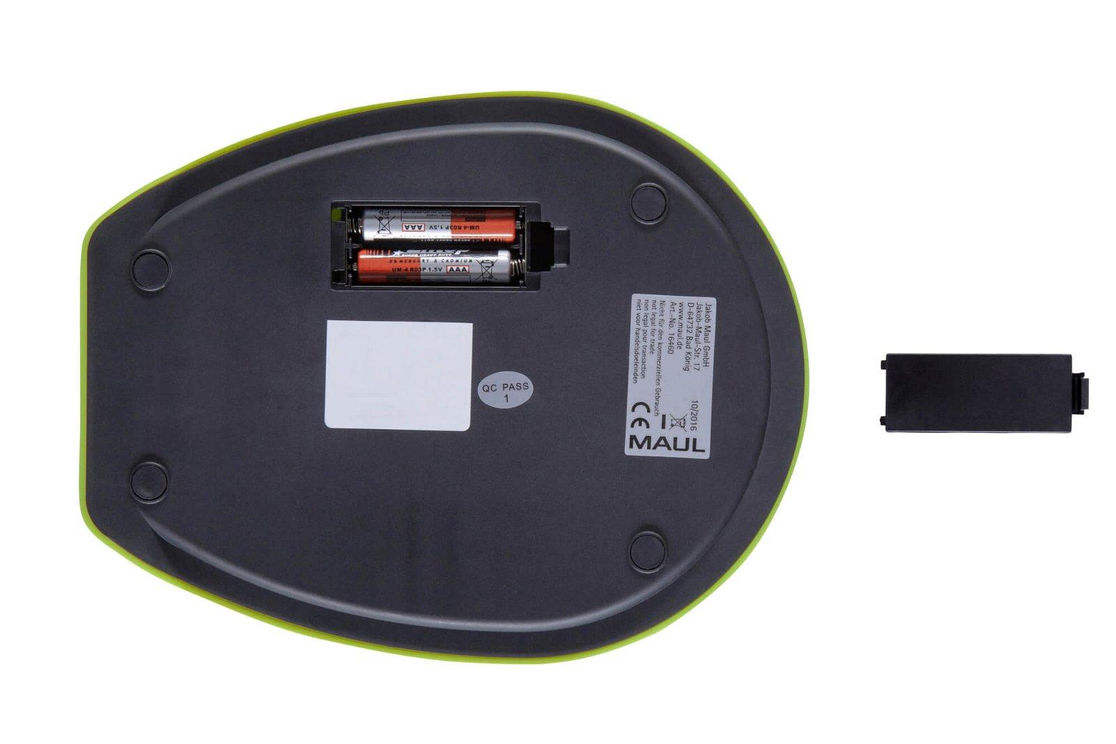Briefwaage MAULgoal mit Batterie, 5000 g, hellgrün