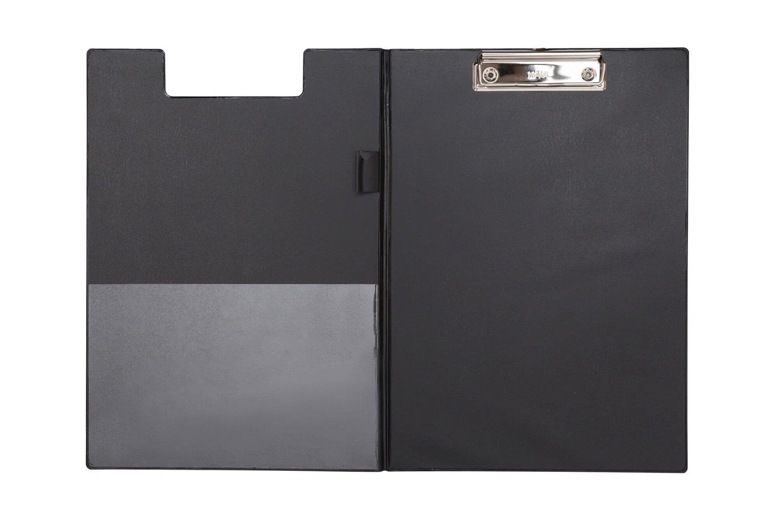 A4 Schreibmappe mit Folien- überzug, schwarz