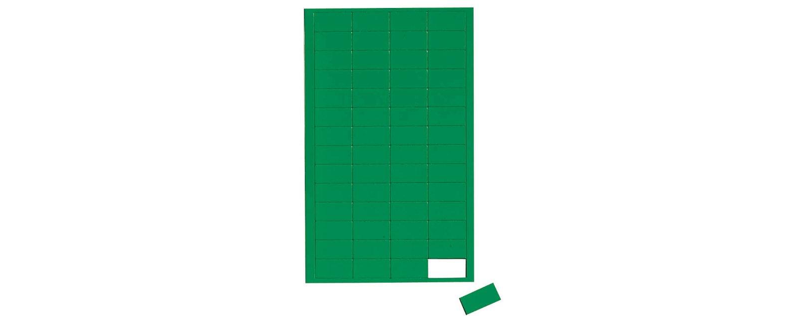 Magnetsymbole Rechteck,  56 St./Btl., grün