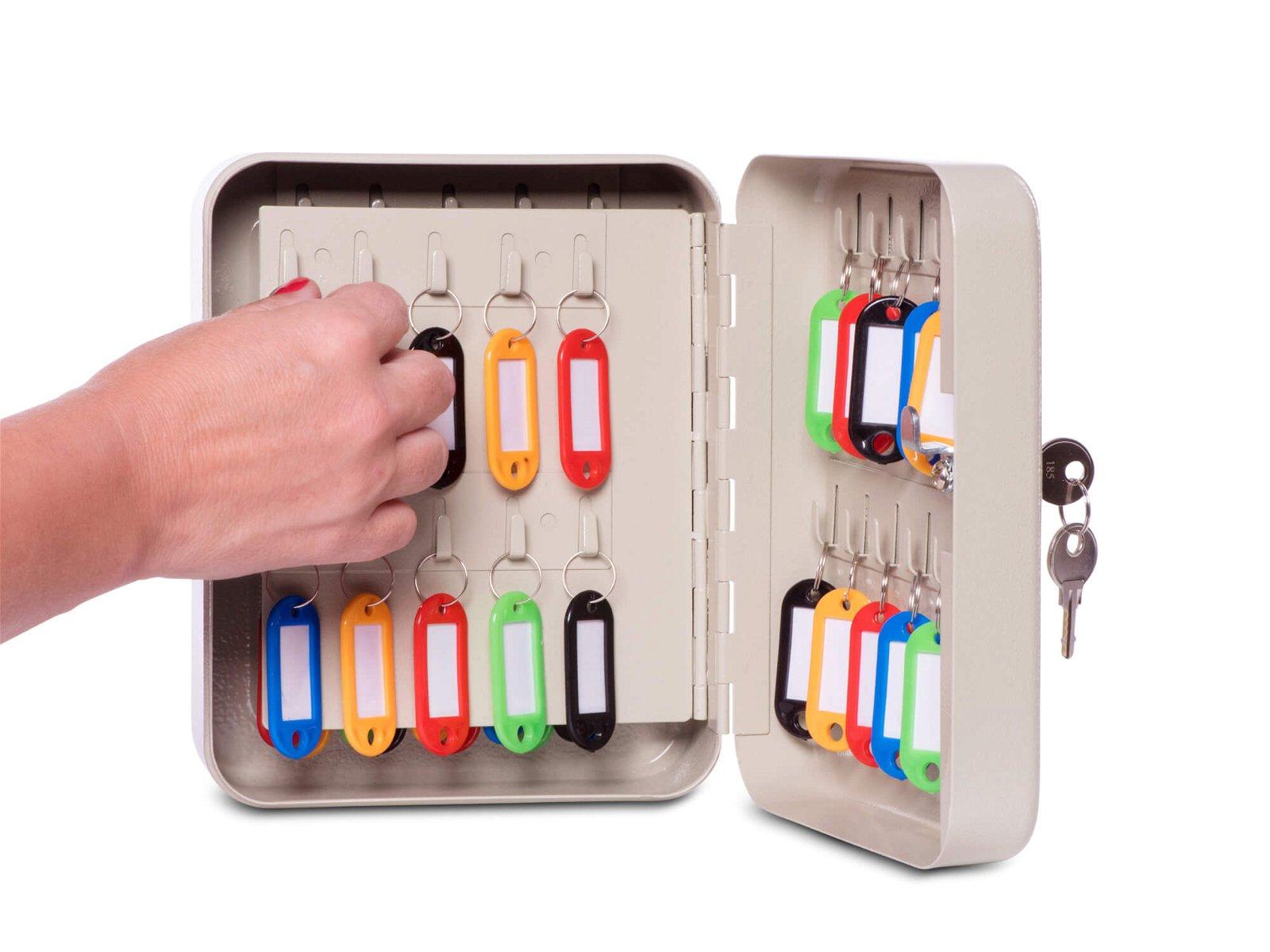 Schlüsselkasten für 40 Schlüssel, grau