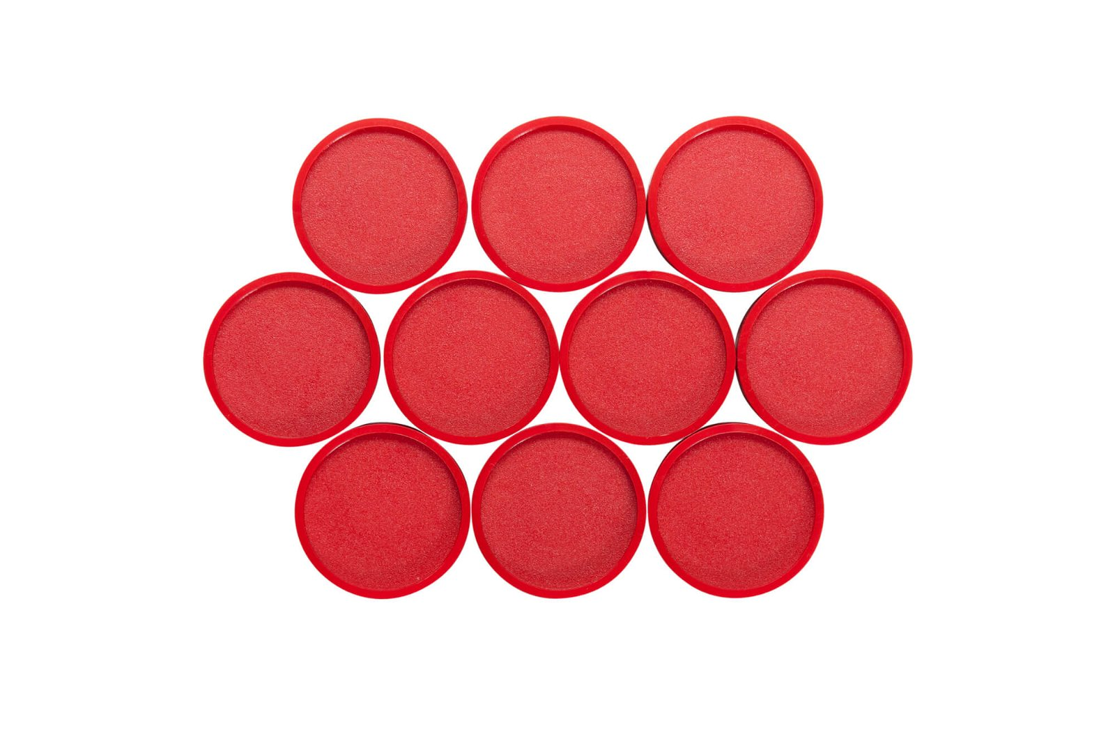 Rund-Magnet, PE Ø 30 mm, 0,6 kg Haftkraft, 10 St./Set, rot