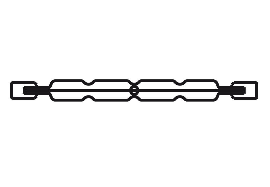 Halogen-Leuchtmittel, Sockel R7s, 2900 K, glasklar