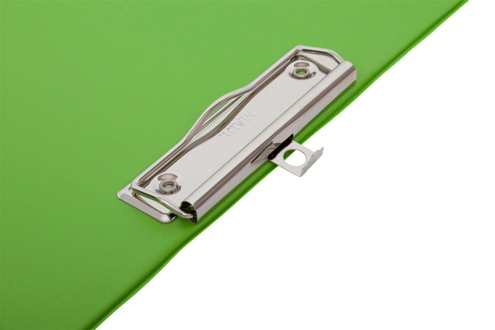 A4 Schreibplatte mit Folien- überzug, hellgrün