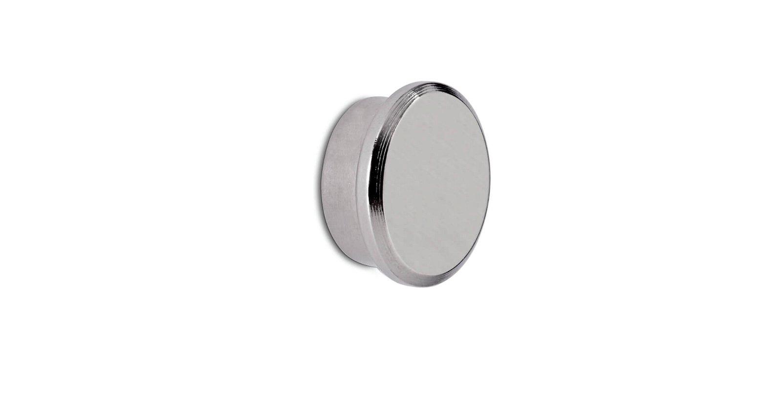 Neodym-Kraftmagnet, Ø 22 mm, 8 kg Haftkraft, hellsilber