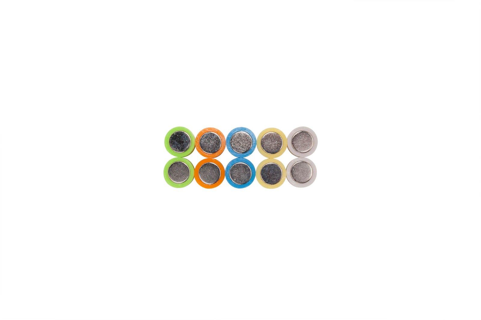 Neodym-Kegelmagnet, Ø 12 mm, 1,5 kg Haftkraft, 10 St./Set, farbig sortiert