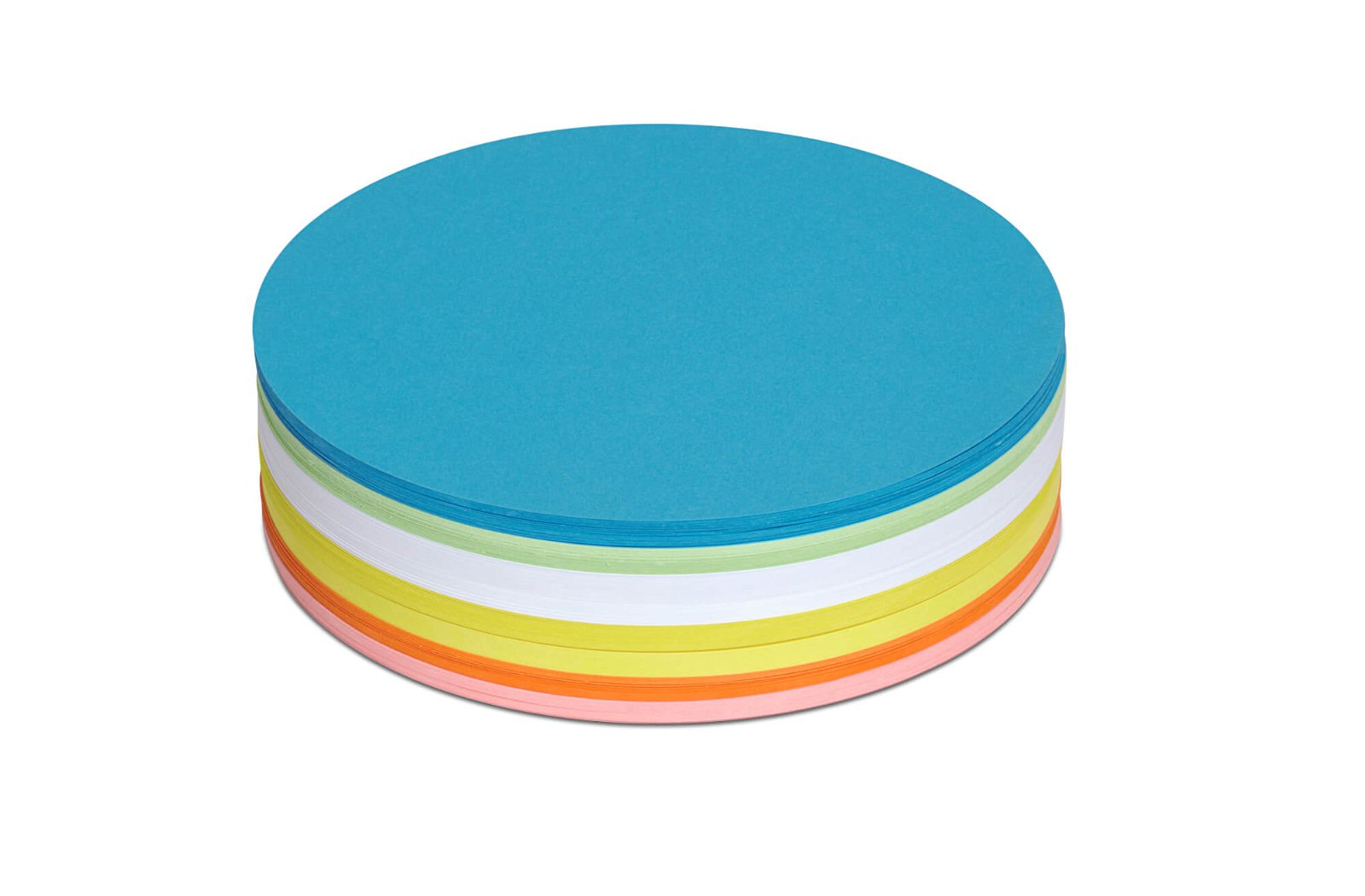 Moderationskarten rund, Ø 18,5 cm, 250 St./Pack, farbig sortiert
