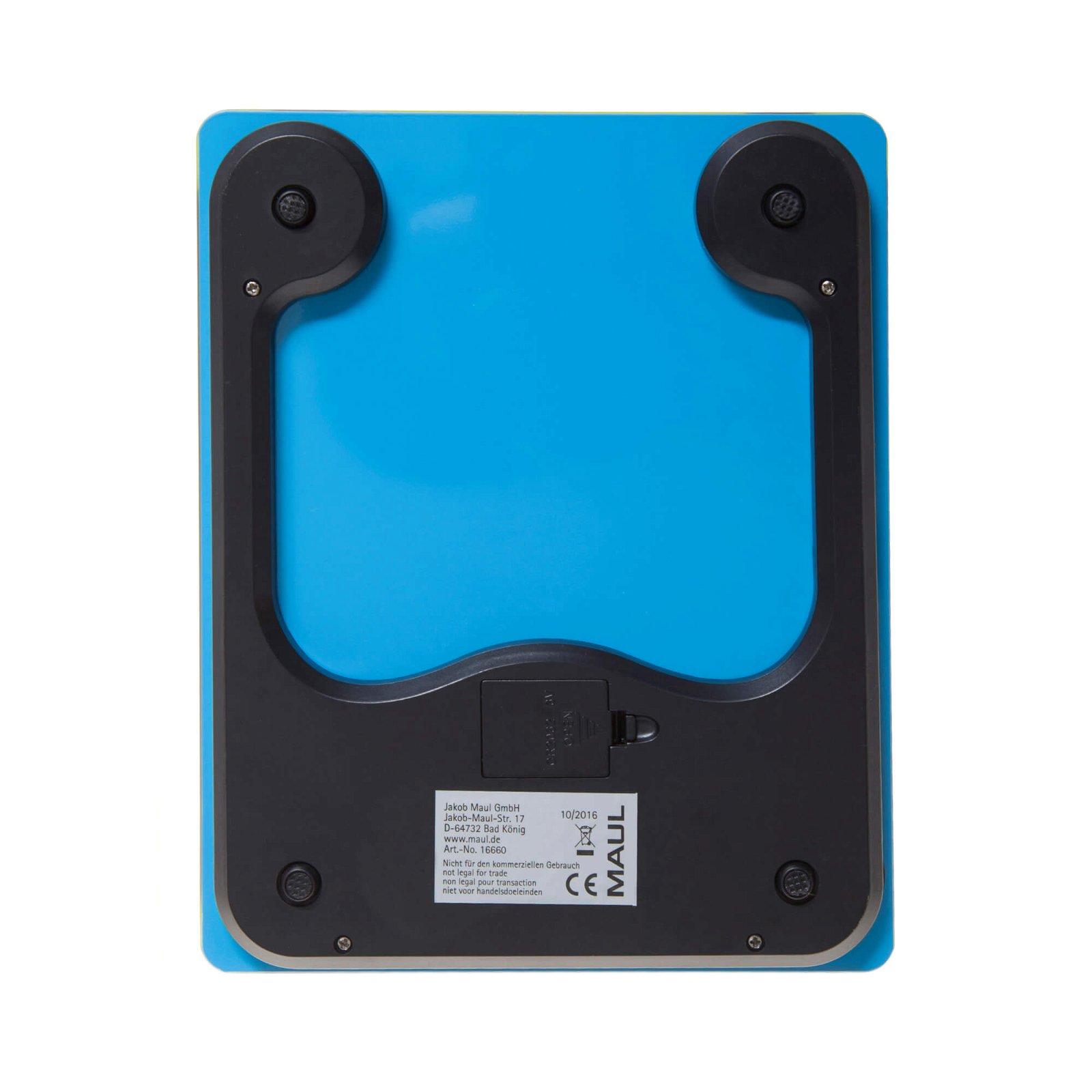 Briefwaage MAULgloss mit Batterie, 5000 g, hellblau