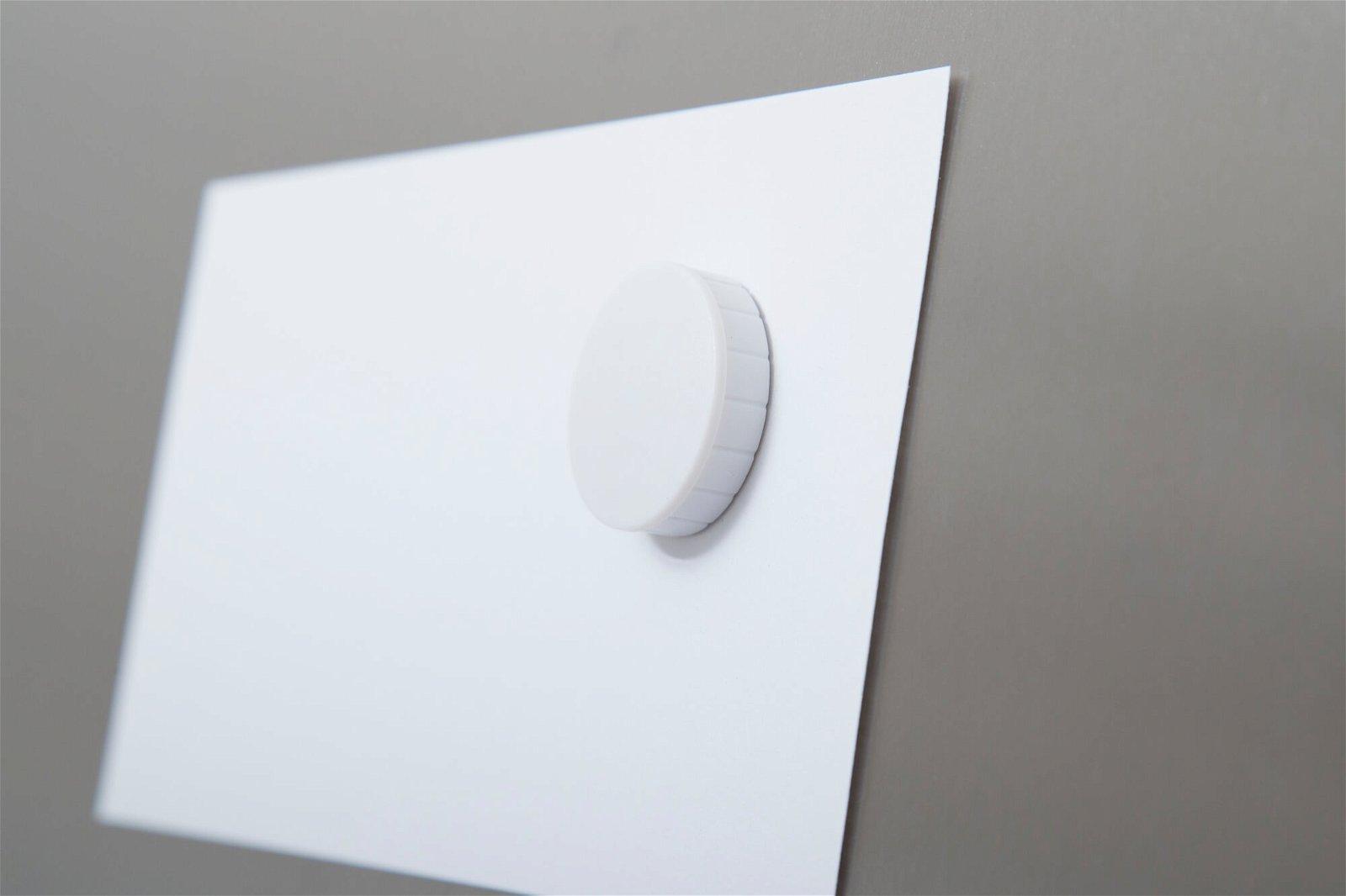 Magnet MAULsolid Ø 32 mm, 0,8 kg Haftkraft, 10 St./Ktn., weiß