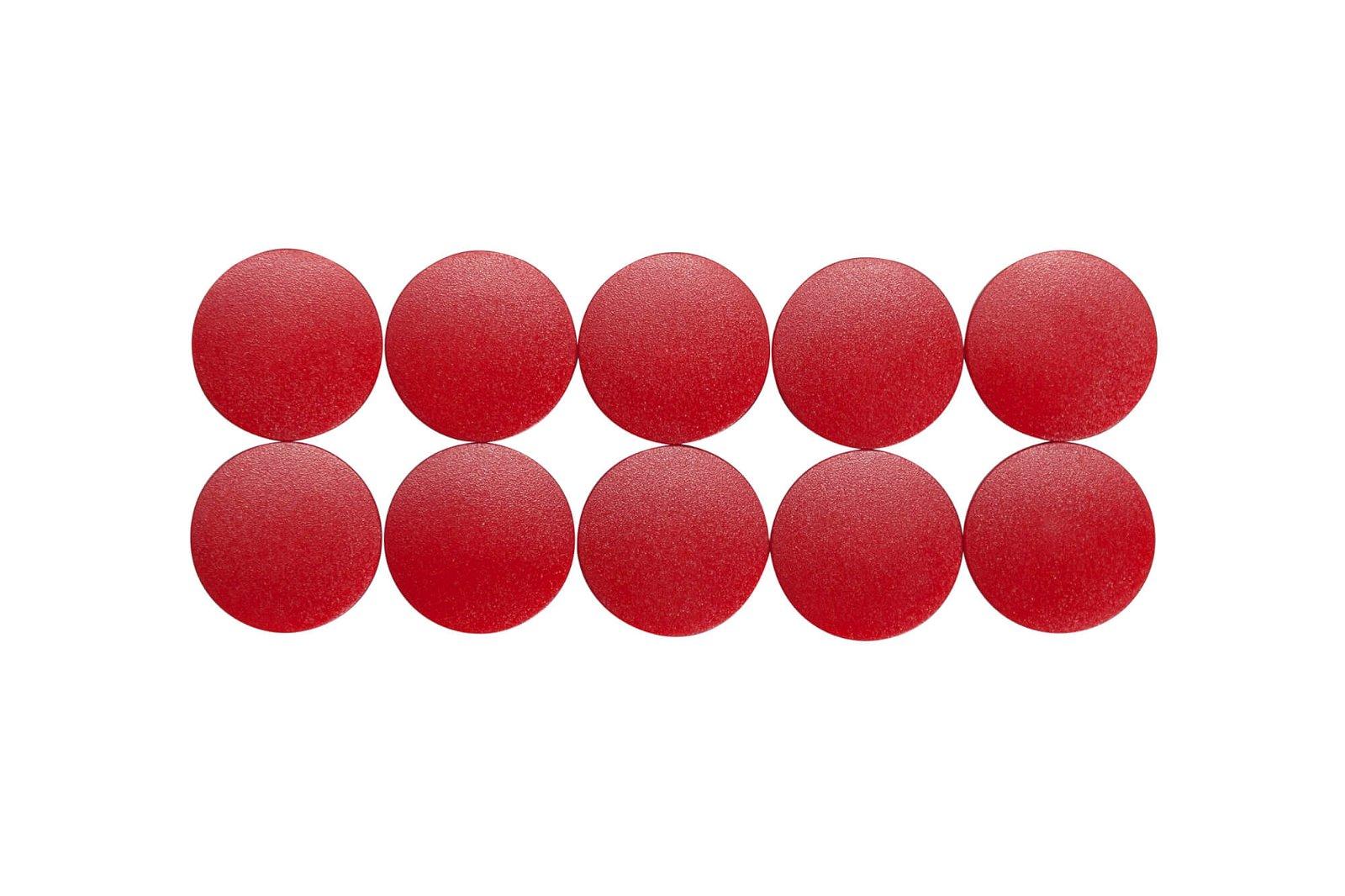 Magnet MAULsolid Ø 24 mm, 0,6 kg Haftkraft, 10 St./Ktn., rot