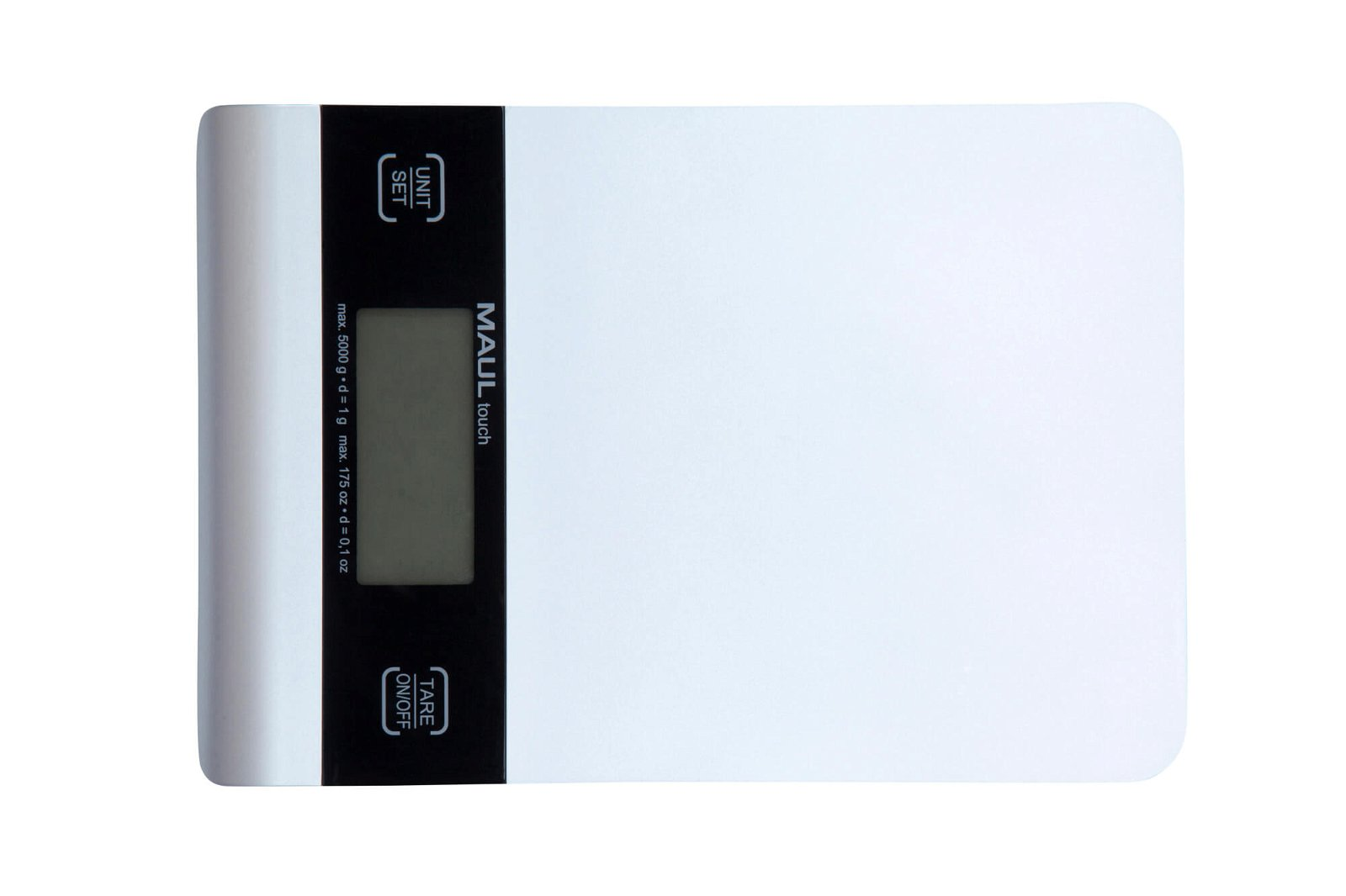 Briefwaage MAULtouch mit Batterie, 5000 g, silber