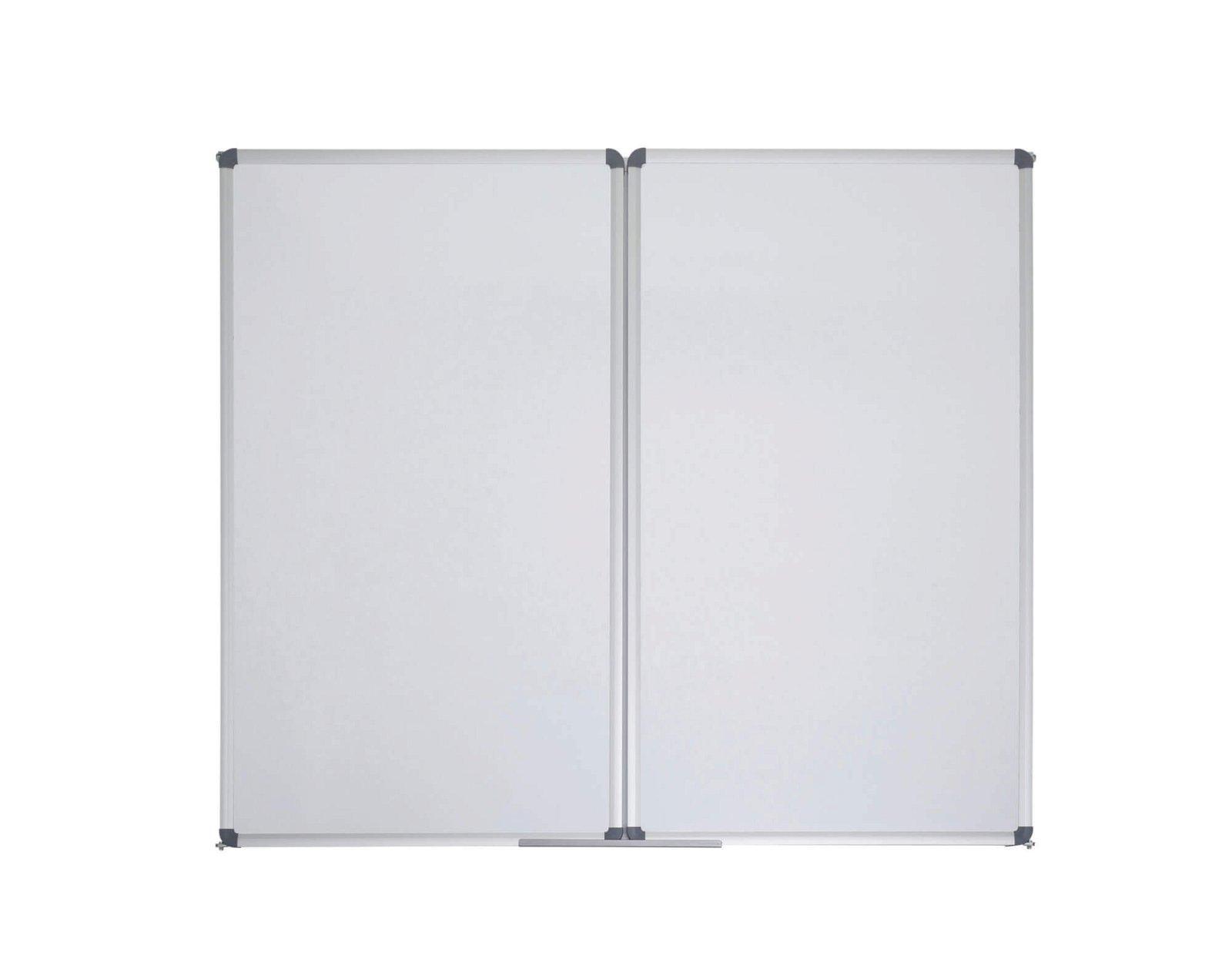 Whiteboard Klapptafel MAULstandard, 100x120 cm, grau