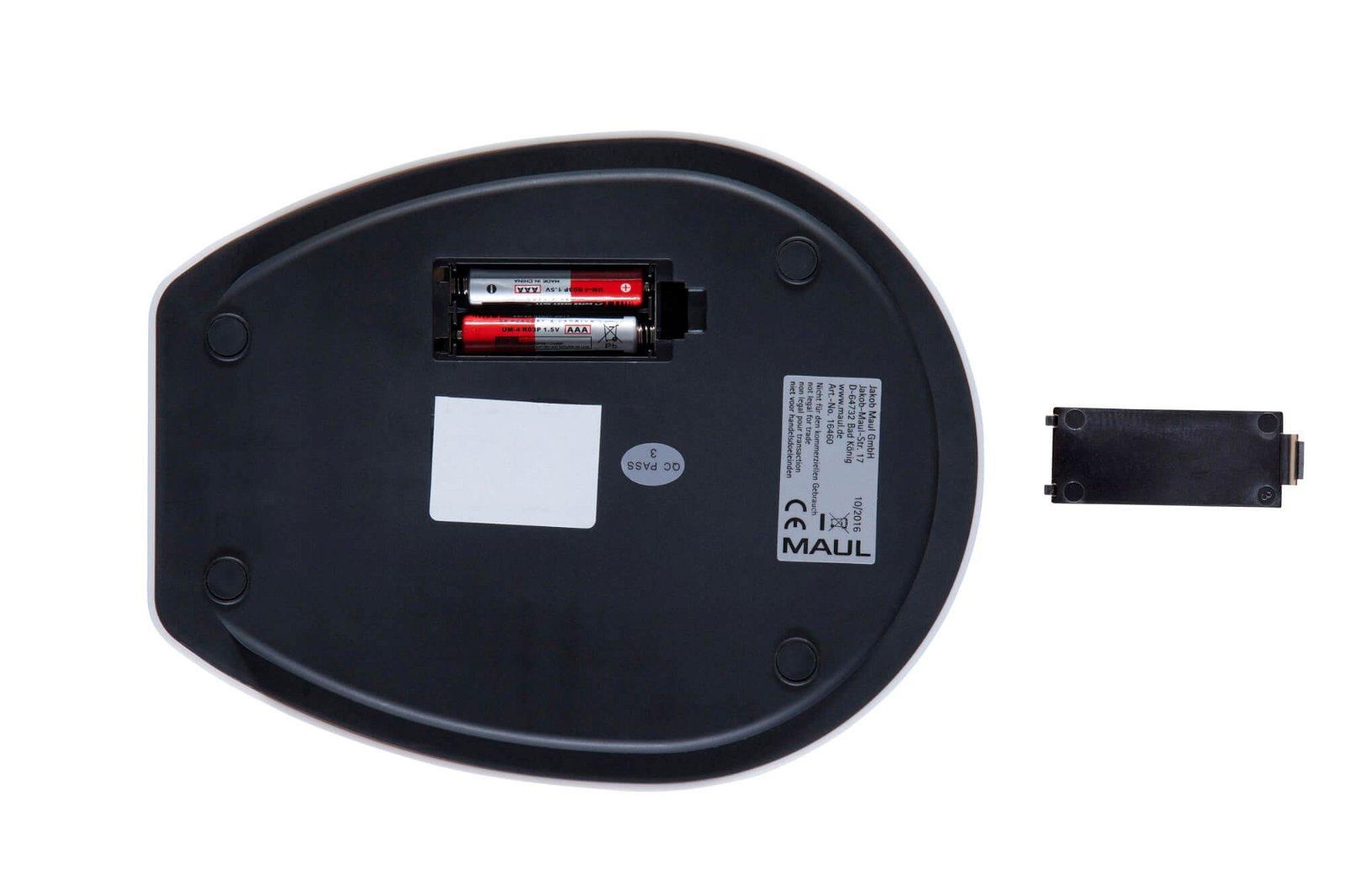 Briefwaage MAULgoal mit Batterie, 5000 g, weiß