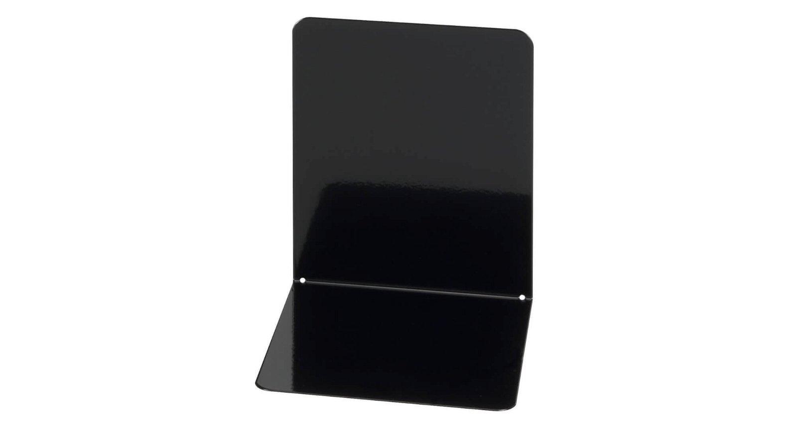 Buchstützen aus Metall, breit, 14 x 12 x 14 cm, schwarz