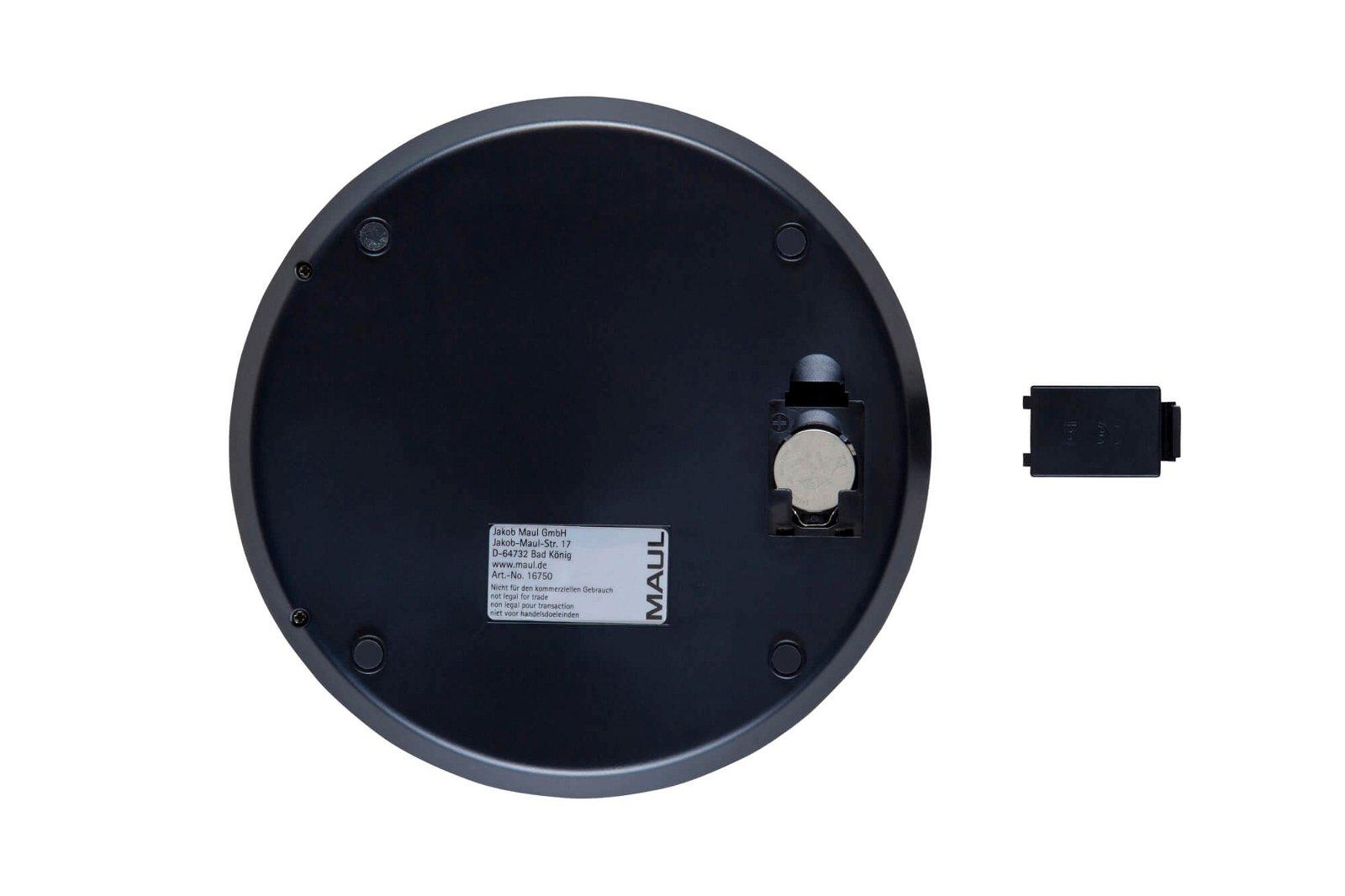 Briefwaage MAULdisk mit Batterie, 5000 g, hellsilber